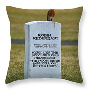 Dead Robin Throw Pillow