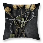 Dead Roses Throw Pillow