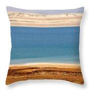 Dead Sea Shoreline In Jordan Throw Pillow