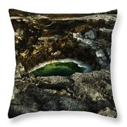 Dead Sea Sink Holes Throw Pillow by Dan Yeger