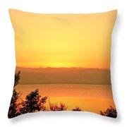 Dead Sea Sunset Throw Pillow