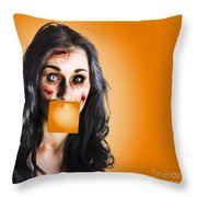 Dead Tired Worker Sick From Hard Work Throw Pillow