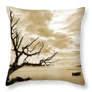 Dead Tree And Sea Throw Pillow
