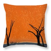 Dead Trees By Red Sand Dunes, Dead Throw Pillow