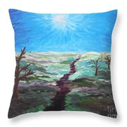 Dead Trees On The Moor Throw Pillow