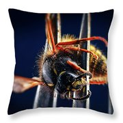 Dead Wasp On A Fork Throw Pillow
