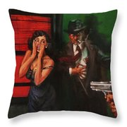 Deadly Surprise Throw Pillow