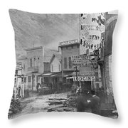 Deadwood, South Dakota Throw Pillow