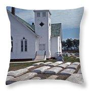 Deal Island Church Throw Pillow