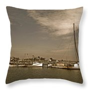 Deal Island Fishing Boats Throw Pillow