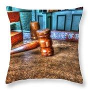 Dealing Justice Throw Pillow