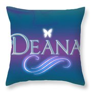 Deana Name Art Throw Pillow
