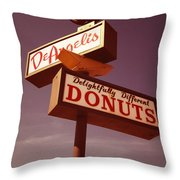 Deangelis Donuts Throw Pillow by Jim Zahniser