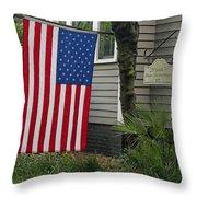 Deans - Maffitt House Throw Pillow by Suzanne Gaff