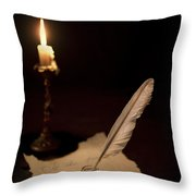 Dear Diary... Throw Pillow by Evelina Kremsdorf