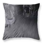 Death A Coward Throw Pillow