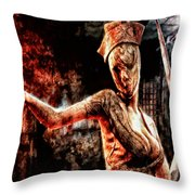 Death By Medicine Throw Pillow