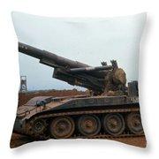 Death Dealer II  8 Inch Howitzer  At Lz Oasis Vietnam 1968 Throw Pillow