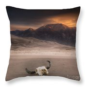 Death In The Desert Throw Pillow