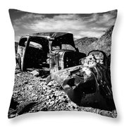 Death In The Valley Throw Pillow