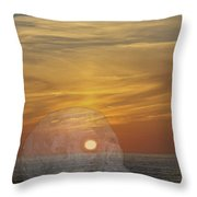 Death Of A Day Throw Pillow