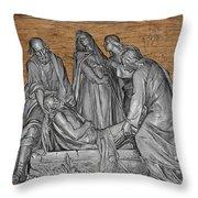 Death Of Christ Throw Pillow