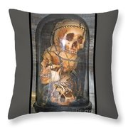 Death On Display Throw Pillow