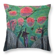 Death Tree Throw Pillow