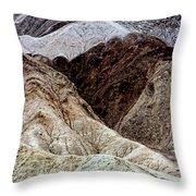 Death Valley Desert Rocks Throw Pillow