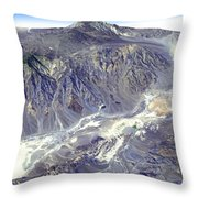 Death Valley From Outer Space Throw Pillow