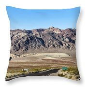 Death Valley Highway Throw Pillow
