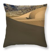Death Valley Mesquite Flat Sand Dunes Img 0086 Throw Pillow