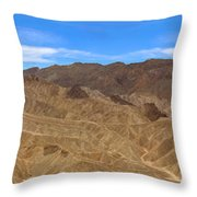 Death Valley Np Zabransky Point  Throw Pillow