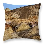 Death Valley Painted Mountains Throw Pillow