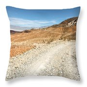 Death Valley Road Throw Pillow
