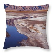 Death Valley Salt Stream 1-h Throw Pillow