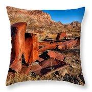 Death Valley Truck Throw Pillow