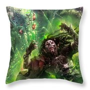 Death's Presence Throw Pillow by Ryan Barger