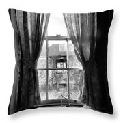Deaths Window Throw Pillow