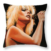 Deborah Harry Or Blondie 2 Throw Pillow