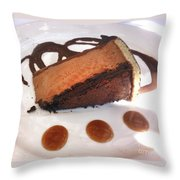 Decadent Delight Dessert  Throw Pillow