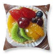 Decadent Fruit Tart Throw Pillow