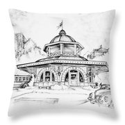 Decatur Transfer House Throw Pillow by Scott and Dixie Wiley