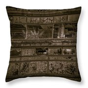 Decaying Building In Glasgow Throw Pillow