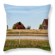 Decaying Farm Central Il Throw Pillow