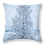 December Birch Throw Pillow