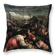 December. Capricorn Throw Pillow