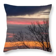 December County Clare Sunrise Throw Pillow