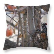 December Snow Throw Pillow
