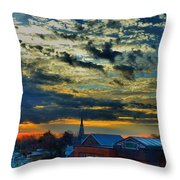 December Sunrise In Annapolis Throw Pillow